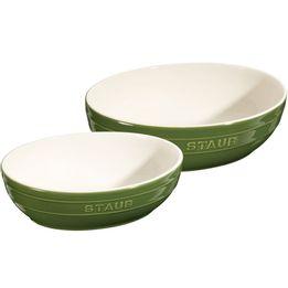 Bowl-de-ceramica-Staub-verde-2-pecas-23-e-27-cm