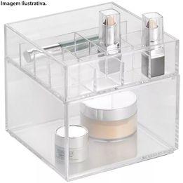 Porta-maquiagem-de-acrilico-InterDesign-2-pecas-15-x-15-cm---28045-