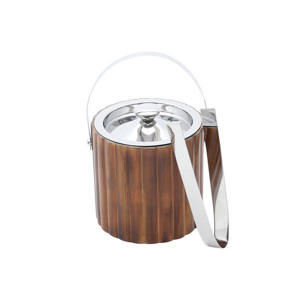 Balde-para-gelo-de-aco-inox-e-bambu-com-pinca-Prestige---28530-