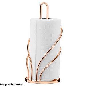 Porta-Papel-Toalha-Attuale-Rose-Gold-Future-29x-13CM-–-28566