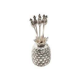Garfinhos-para-Petisco-Lyor-Zamac-Silver-Plated-Pineapple-6PCS-–-28729