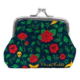 Porta-Moedas-Skull-Flowers-Azul-10X82CM---28811-