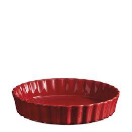 -Travessa-de-Ceramica-Emile-Henry-Redonda-Canelada-Funda-Vermelho-24X5cm---28875