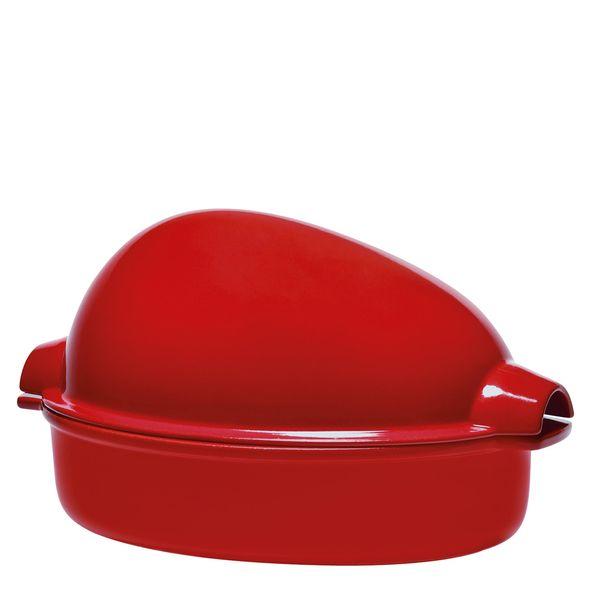 -Roaster-Ceramica-Emile-Henry-para-Aves-Vermelho-34X24cm---28890