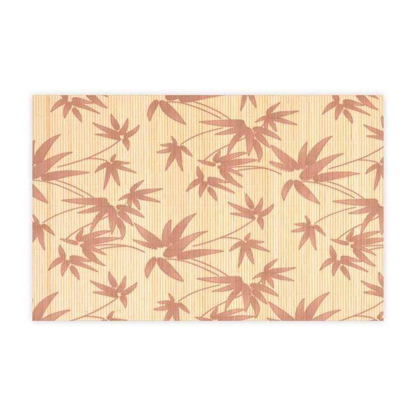 Jogo-Americano-Bambu-Folhagem-Marrom-4-Pecas---28678-