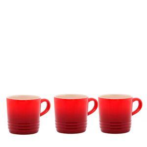 Caneca-de-ceramica-para-cafe-Le-Creuset-vermelha-3-pecas-100-ml---20070