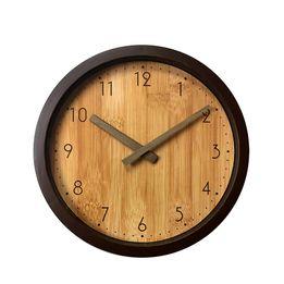 Relogio-de-Parede-Wood-Marrom-Plastico-25CM---29739