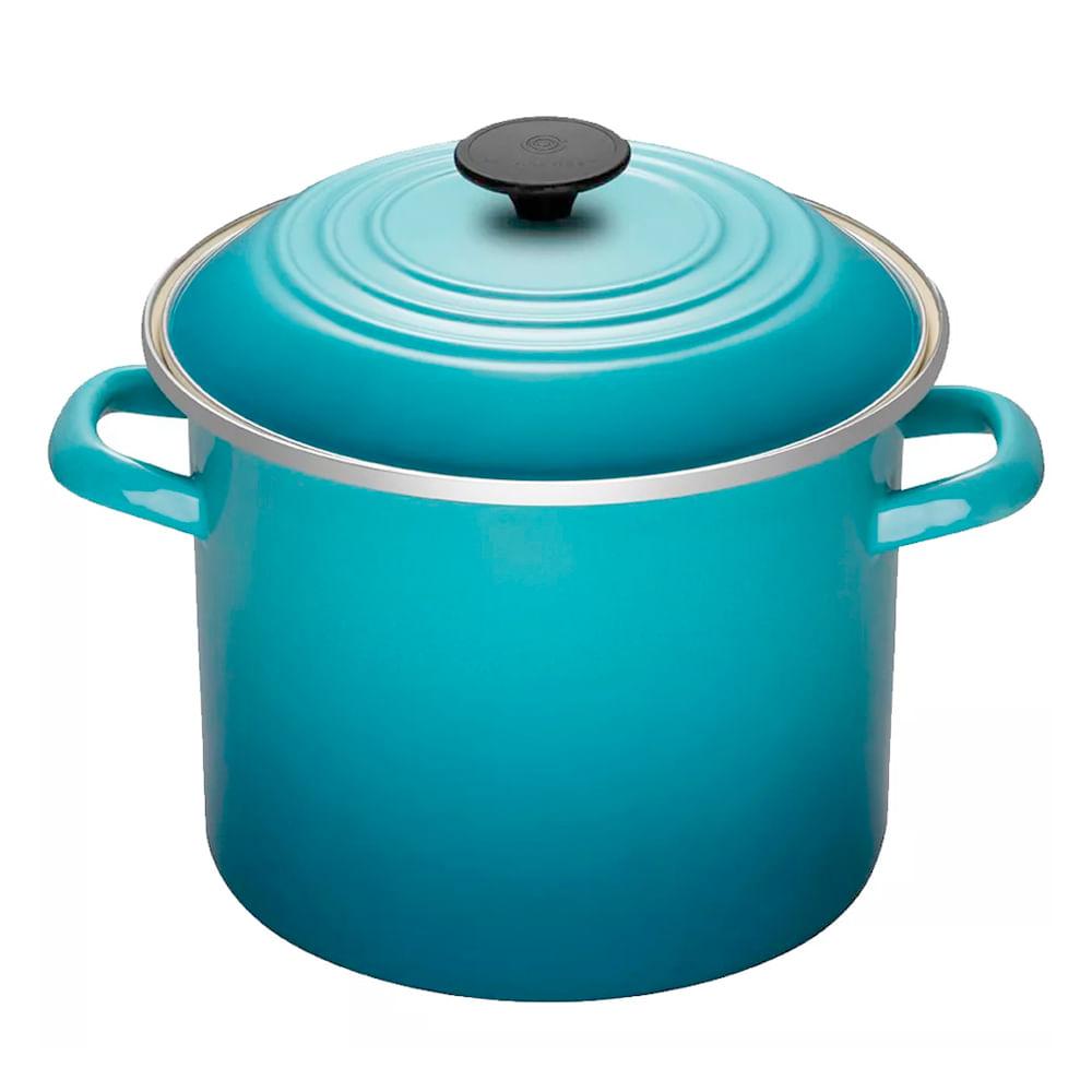 Caldeirão Esmaltado Stock Pot Le Creuset Azul Caribe 22CM