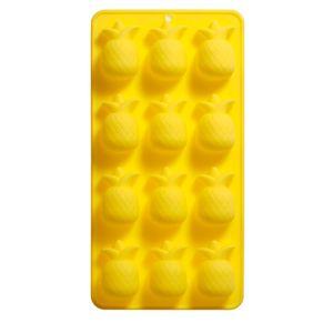 Forma-de-Gelo-Abacaxi-Silicone-Amarelo-21X11CM---30264
