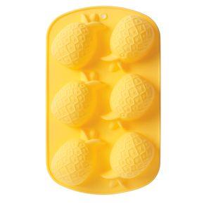 Forma-de-Cup-Cake-Abacaxi-Silicone-Amarelo-26X16CM---30262