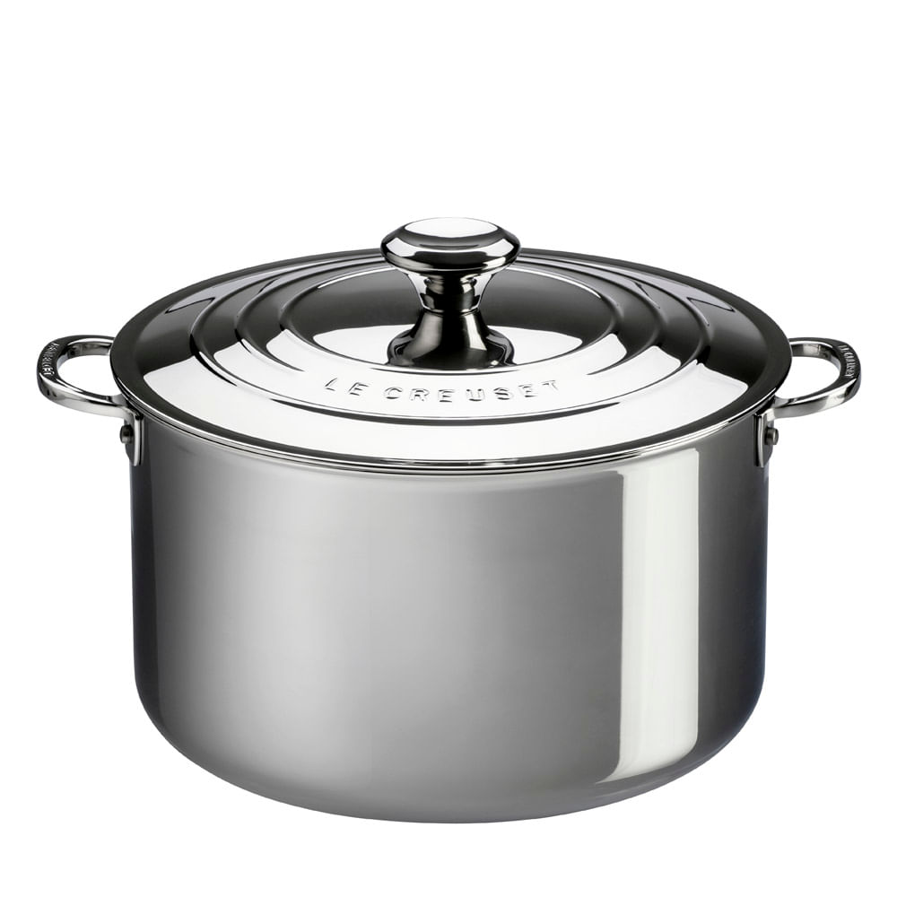 Caldeirão de Aço Inox Stock Pot 3-Ply Le Creuset 28CM
