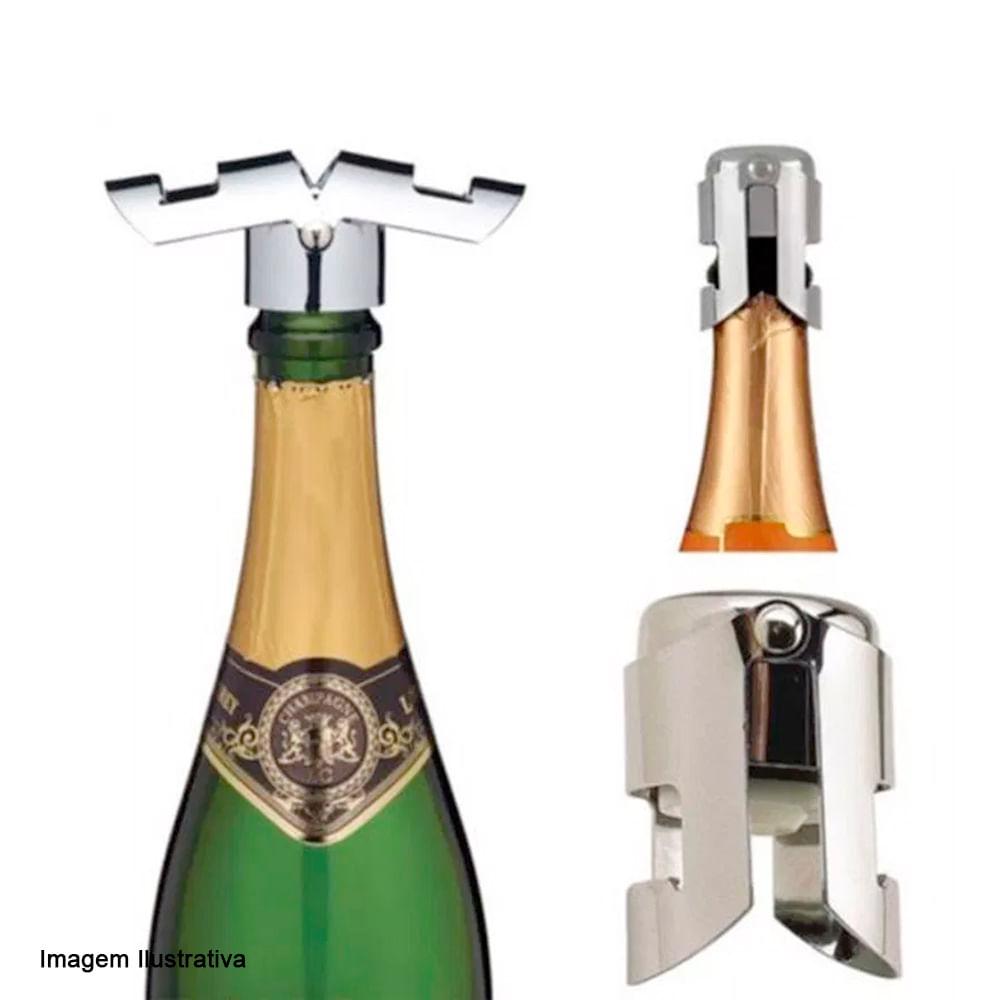 Abridor e Tampa de Champagne Ghidini 2PÇS
