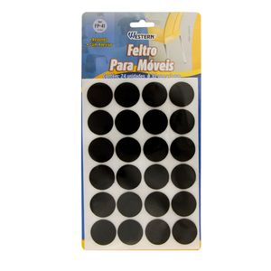 Adesivo-de-Feltro-Redondo-Preto-24-Pecas---106274