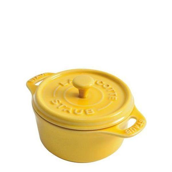 Mini-Cocotte-Redonda-de-Ceramica-Staub-Amarelo-Limao-10CM---10758