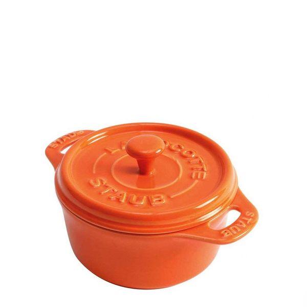 Mini-Cocotte-Redonda-de-Ceramica-Staub-Laranja-10CM---16240