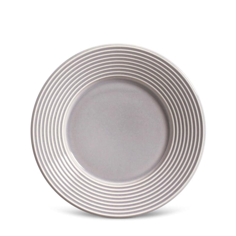 Prato Sobremesa de Cerâmica Porto Brasil Argos Cinza 20CM