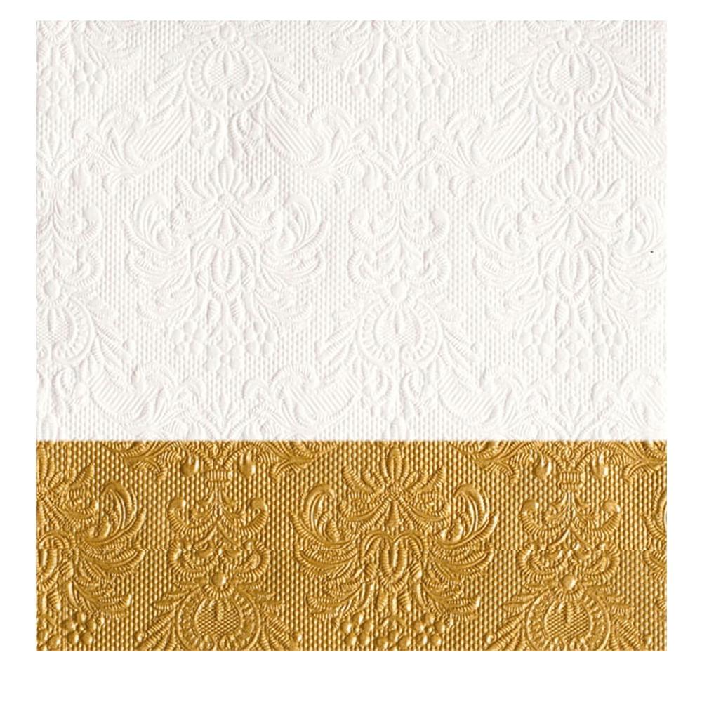 Guardanapo de Papel Elegance Dip Gold 15PÇS 33CM