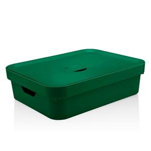 Cesta-Organizadora-Cube-OU-Verde-Escuro-com-Tampa-45X35X13CM---32241