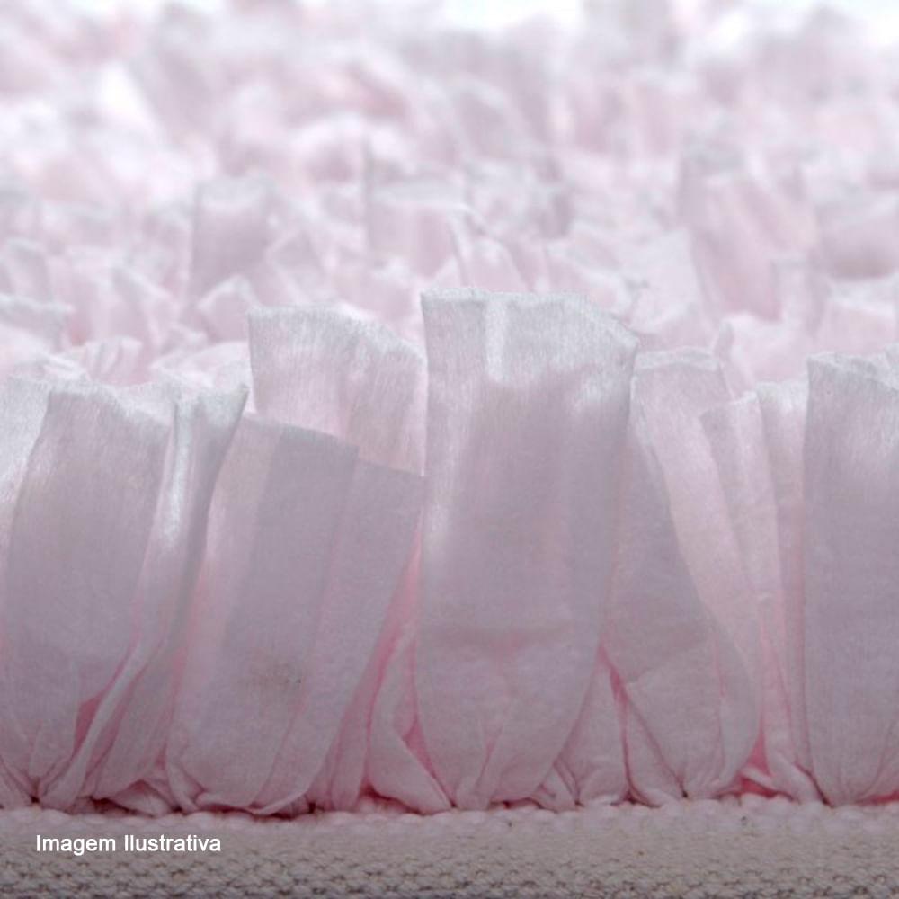 Tapete de Microfibra Satara Rosa Claro 70X120CM