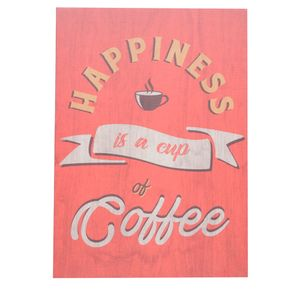 Placa-Happiness-Coffee-Vermelho-35CM---32937