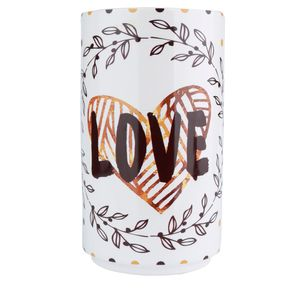 Vaso-Love-and-Flowers-Ceramica-Branco-11X22CM---32916
