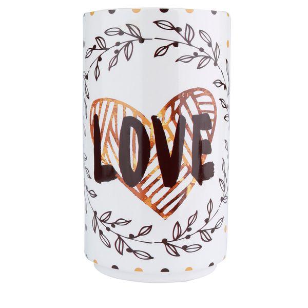 Vaso-Love-and-Flowers-Ceramica-Branco-11X22CM---32916
