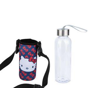 Garrafa-Plastica-Hello-Kitty-400mL-Suporte-2PCS---32917
