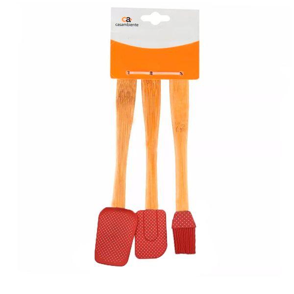 Utensilios-Silicone-Madeira-Poa-Vermelho-3PCS-30CM---33075
