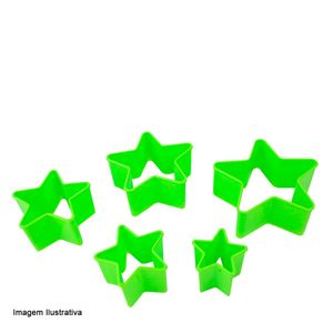 Cortador-de-Biscoito-Estrela-Color-5PCS---33662