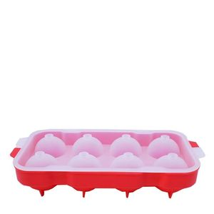 Forma-de-Gelo-8-Esferas-Silicone-Vermelho---33820