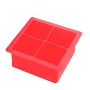 Forma-de-Gelo-Silicone-com-Tampa-4-Cubos-Vermelho-11CM---34005