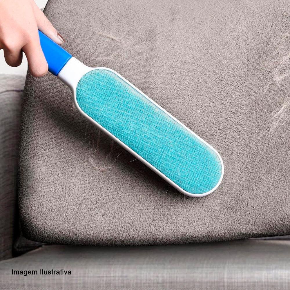 Escova Removedora de Pelo Azul e Branco 32CM 2PÇS