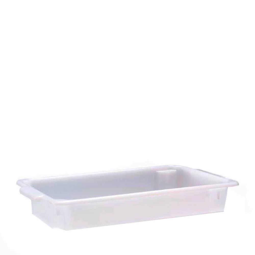 Bandeja Plastica Empilhável Branca 55X33X10CM