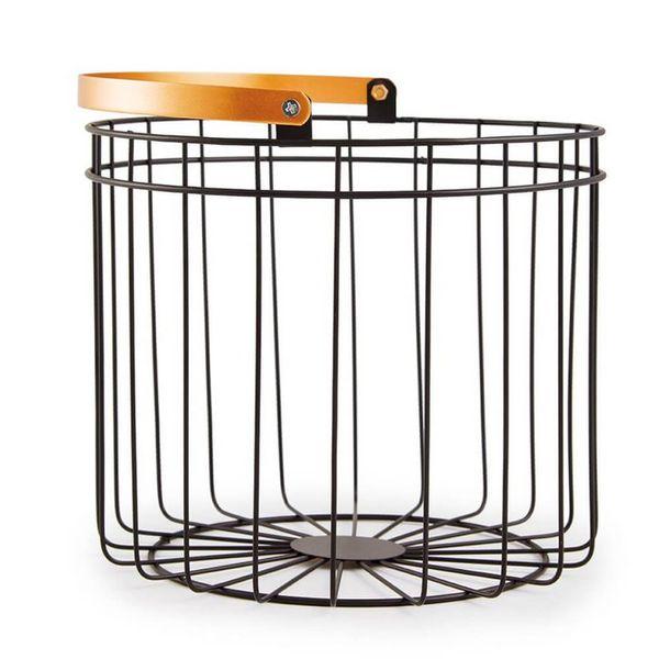 Cesto-Organizador-Metal-Preto-e-Dourado-23X25CM---34413