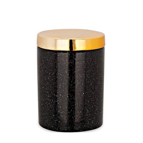 Pote-Ceramica-Preto-e-Dourado-8X10CM---34440