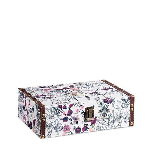 Caixa Organizadora Bau Flores 8X15X25,5CM