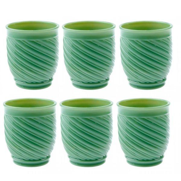 Copo-Vidro-Jade-Verde-6PCS---34480