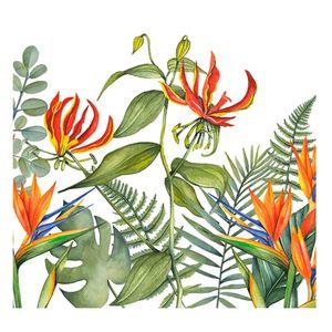 Guardanapo-de-Papel-Tropical-Flower-Branco-20PCS-33CM---34654