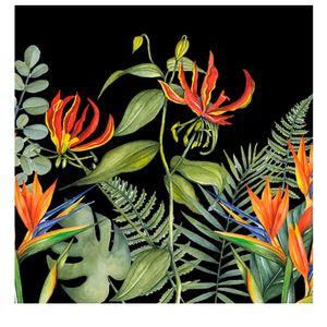 Guardanapo-de-Papel-Tropical-Flower-Preto-20PCS-33CM---34653