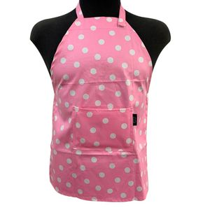 Avental-Impermeavel-Infantil-Dot-Pink-42X56CM