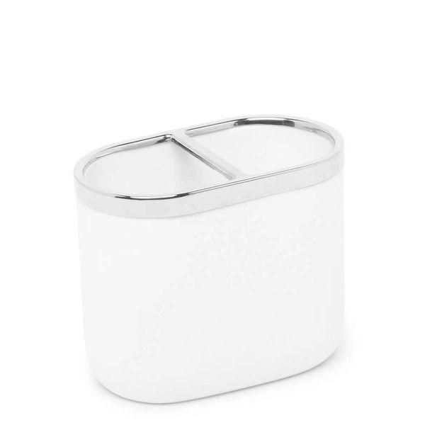 Porta-Escova-de-Dente-de-Resina-Junip-Umbra-Branco-7X10X12CM