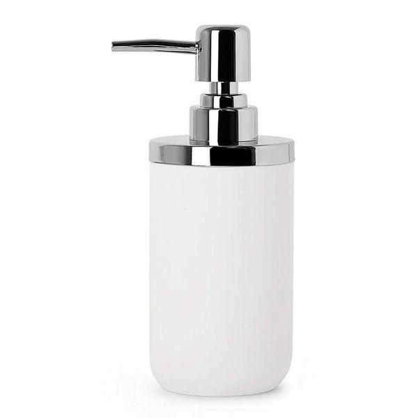 Porta-Sabonete-Liquido-de-Resina-Junip-Umbra-Branco-9X6X17CM