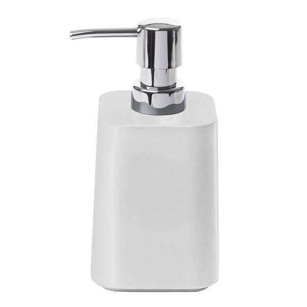 Porta-Sabonete-Liquido-de-Melamina-Scillae-Umbra-Branco-9X8X16CM
