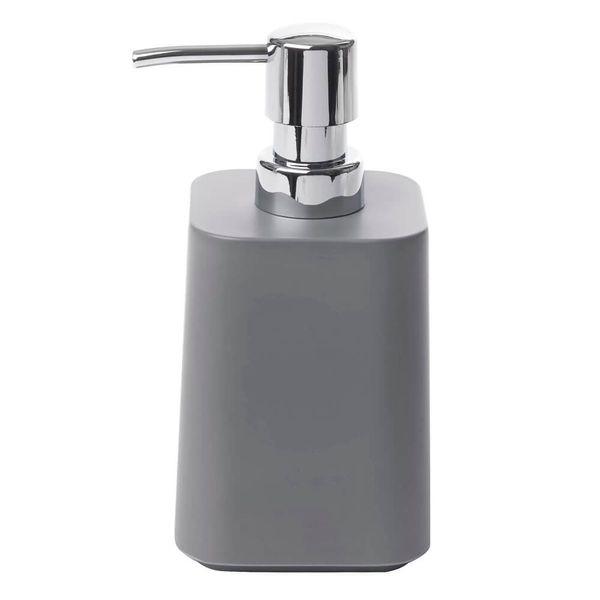 Porta-Sabonete-Liquido-de-Melamina-Scillae-Umbra-Cinza-9X8X16CM