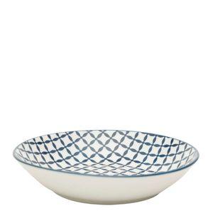 Prato-Fundo-de-Porcelana-Geometric-Star-Preto-e-Branco-20CM