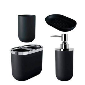 Kit-Banheiro-Preto-4PCS