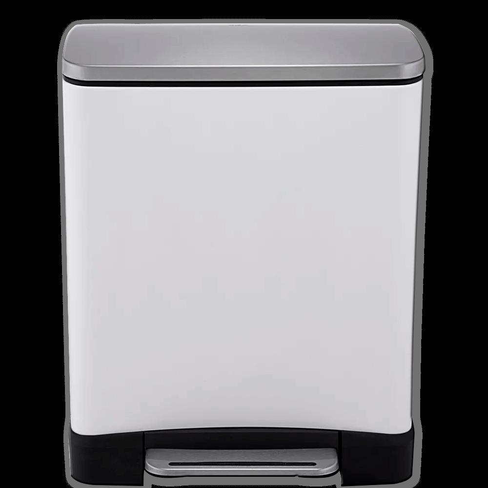 Lixeira de Aço Inox E-Cube Branca 20L