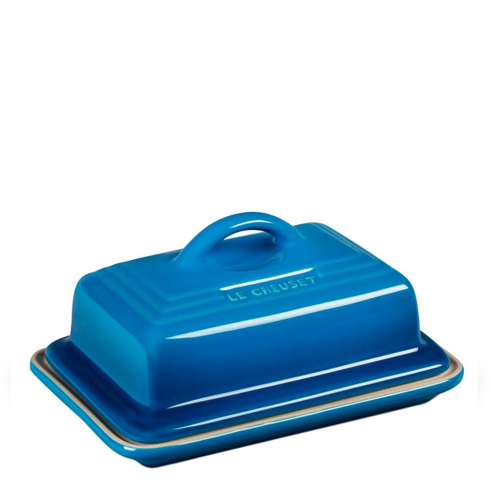 Manteigueira de Cerâmica Le Creuset Azul Marseille 9X12CM