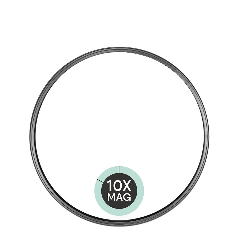 Espelho de Aumento 10X com Ventosa 9CM
