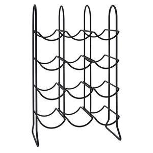 Adega-de-Metal-para-12-Garrafas-Preta